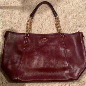 Coach authentic Ava handbag in dark red